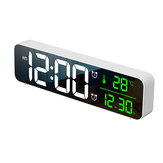 Loskii USB LED 3D Music Dual Alarm Clock Termometro Temperatura Data HD LED Display Orologi da tavolo digitali elettronici da tavolo