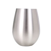 500ml Stainless Steel Beeer Cup Winee Tumbler Large Beeer Mug Cocktail Winee Eegg Shaped Big Cool Metal Cup Outdoor Drinkware Tool