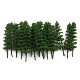 20pcs 1: 100 Fir Trees Model Trein Road Green Street Park Tuin Landschap HO OO N