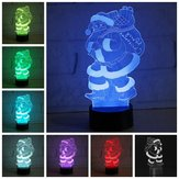 3D LED Colorful Christmas Santa Claus Touch Control Lamp Decor Gift Night Light