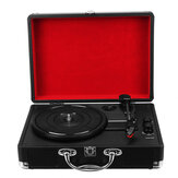 3 Speed Turntable Record Player with Bluetooth Speaker Compatible with 18/25/30cm Records