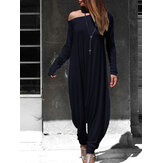 Kvinder Off Shoulder Harem Pants Casual Loose Jumpsuit