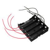 5pcs DIY 4 Slot 18650 Batterie Titulaire Avec 8 Fils