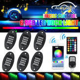 6Pcs RGB 5050 96 LED Car Rock Light Underbody Light bluetooth App+Remote Control