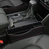 27X16cm PU Leather Car Seat Gap Storage Box Seat Slit Pocket Phone Holder