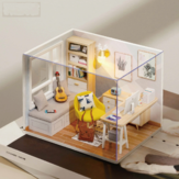 CUTEROOM DIY Doll House Sunshine Study Room Standard con tapa con muebles de interior