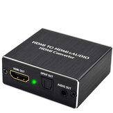 HDMIオーディオスプリッターHDMI-HDMIオーディオSPDIFコンバーター4K3.5mmアナログオーディオ出力スイッチャー