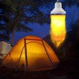 7 W USB Recarregável Chama Efeito 108 LED Blub Luz Tenda de Emergência para Camping Caminhadas Ao Ar Livre