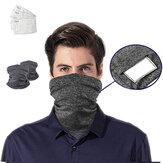 Sciarpe per la testa da sport traspiranti antipolvere all'aperto Maschera con 5 cuscinetti filtro antivento PM2.5 protezione solare