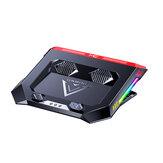 MC X500 Podkładka chłodząca do laptopa Ciche chłodzenie powietrzem ze stali nierdzewnej Składane oświetlenie RGB z regulacją wysokości