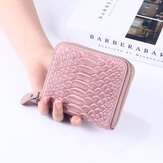 Women Faux Leather Crocodile pattern Card Holder Coin Bag