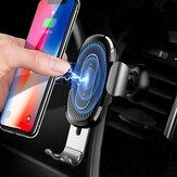 ba<x>seus 10W Qi Sans Fil Support de Stand de Charge Rapide de Téléphone Gravité Auto Verrouillage Air Vent de Voiture pour iPhone 8 X