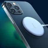 Carregador magnético sem fio USAMS 15W Bloco de carregamento ultrafino Carregamento rápido para iPhone 12 Mini 12 Pro Máx. Huawei P40 Mate 40 Pro