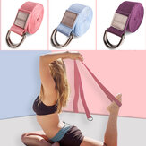 Yoga Stretch Strap D-Ring Inelastic Sport Fitness Arm Legs Waist Training Yoga Rope Exercise Tools