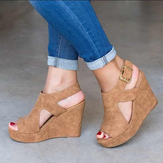 Women Platform Shoes Wedge Heels Sandals Peeps Sandals