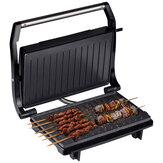 Churrasqueira elétrica portátil de 750 W para churrasco elétrico de dupla face sem fumaça antiaderente Máquina de churrasqueira elétrica para churrasco grelhador de carne grelhada