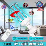 100W UV Germicidal Sterilizer Lamp LED UVC E27 Home Disinfection Light Bulb