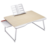 XGear Notebook Monitor Bracket Small Table Folding Table Lazy Computer Table Desk with Reading Rack and Drawer