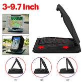 Suporte dobrável multifuncional para carro com suporte para painel móvel GPS Suporte para dispositivos de 3,0-9,7 polegadas