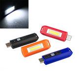 ミニ0.5W USB充電式COB LEDキーホルダーライト懐中電灯ポケットトーチ