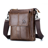 Fashion Business Cowhide Leather Men Splash Proof Tablet Storage Briefcase Crossbody Bag Shoulder Bag