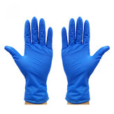 100PCS/Set Blue Gloves Latex Gloves Waterproof Disposable Gloves Cleaning Gloves