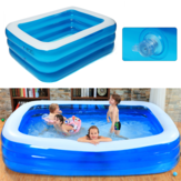 IPRee® 1~3Persons 188cm*142cm*68cm Three-Layer Inflatable Pool Summer Swimming Garden Outdoor Inflatable Swimming Pool For Children Adult