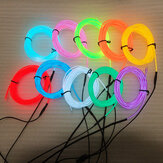 LED Strip Garland EL Wire 1M Auto-interieurverlichting Auto Touw Buislijn Flexibel neonlicht met batterijhouder