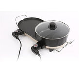 AU Electric Teppanyaki Barbecue BBQ Grill Hotpot Table Smokeless Plate