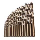 Drillpro 19pcs 1-10mm HSS M35 Cobalt Twist Drill Bit Set for Metal Wood Drilling
