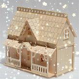 DIY Деревянные Блоки Сборка Кукла Дом Модель Игрушки для Детей Подарок
