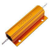 10pcs RX24 100W 8R 8RJ Metal Aluminum Case High Power Resistor Golden Metal Shell Case Heatsink Resistance Resistor