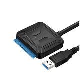 Cabledeconn USB 3.0 para SATA Conversor de adaptador de disco rígido Cabo de dados de disco rígido Conectores de 0,5 m para disco rígido SSD de 2,5