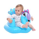 Cartoon Cute Peacock Inflatable Toys Portable Sofa Multi-functional Bathroom Sofa Chair for Kids Gift