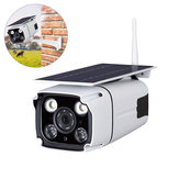 IP67 1080P HD Solar Powered Nirkabel WIFI IP Surveillance Camera Night Vision Luar Ruangan