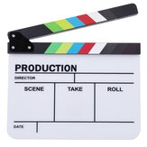 Clapperboard TV Film Movie Clapper Board Handmade Colorful Erase Director Cut Prop