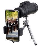 IPRee® 40X60 Monocular Optical HD Lens Telescope + Tripé + Mobile Phone Clip Monocular de visão noturna portátil para acampamento de caça