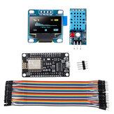Geekcreit WiFi ESP8266 Kit de démarrage IoT NodeMCU sans fil I2C affichage OLED DHT11 Module de capteur d'humidité de la température