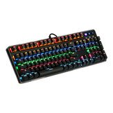 MantisTek® GK1 Blue Beralih 104 Keys Backlit Mechanical Gaming Keyboard NKRO 4 Modes of Lighting