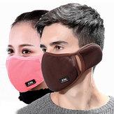Inverno Maschera Orecchie protette elasticizzate Antivento Maschera Anti Polvere Maschera Bocca Maschera Antivari a bocca ingrossata