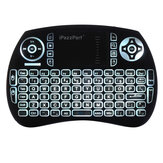 iPazzPort KP-810-21BTL Wireless bluetooth Backlit Multi-language Black Mini Keyboard Air Mouse