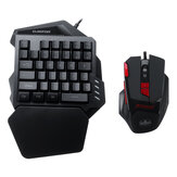 One-handed Keyboard Mouse Mouse Pad Wired Gaming Keypad Desktop RGB Keyboard Mouse Mat