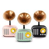 5W Phonograph بلوتوث Speaker الدعم AUX play TF بطاقة تشغيل راديو FM