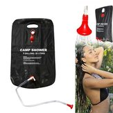 20L Outdoor Portable Camping Shower Bag Water Bladder Solar Heating Pipe Pouch Beach Travel