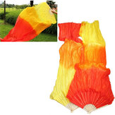 1.8M Multicolor Belly Dance Fan Bamboo Long Silk Fans Dance Performance Supplies