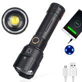 XANES® XHP90.2 3500LM Zoom teleskopowy Ładowanie USB LED 18650 Latarka Awaryjny telefon komórkowy Moc Bank Camping światło