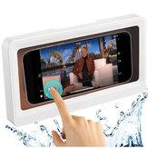 Bakeey Shower هاتف جراب حامل لمس شاشة خلية المحمول هاتف جراب حامل جدار جبل صندوق تخزين الجدار الشنق الحر اللكم تحت 6.8 بوصات