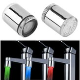 LED Light Water Tap Sensor Suhu RGB Cahaya Shower Stream Faucet Shower Kepala