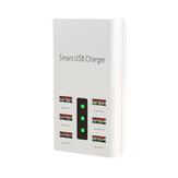 6 портов 30 Вт Smart USB зарядное устройство адаптер питания LED Дисплей Станция Огнестойкое интеллектуальное зарядное устройство Универсальное