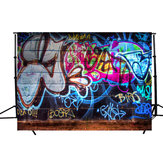 5x3FT Graffiti Wall Theme Fotografia Sfondo Photo Backdrop Studio Props